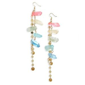 HESPERA JEWELRY Boho Aura Quartz Drop Earrings